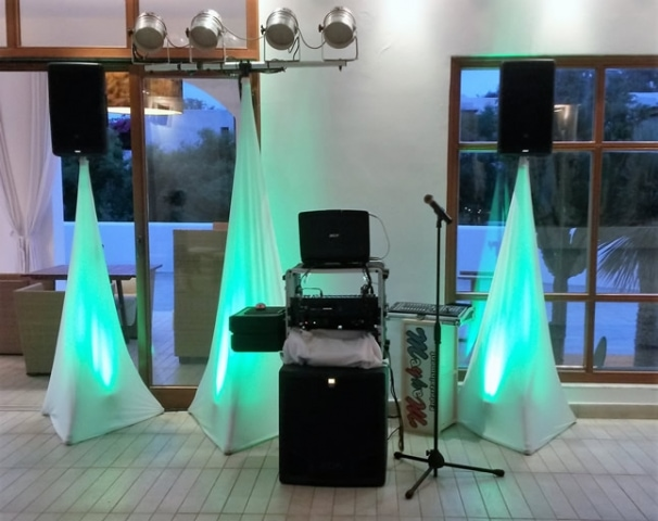 The DJ stand set up Lindian Village