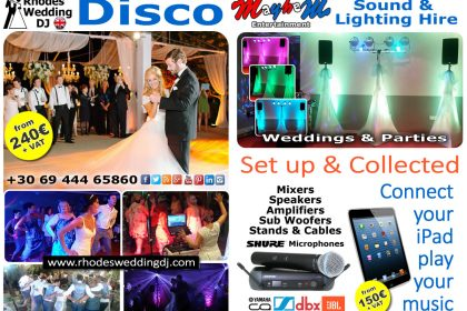 Wedding disco djs & hire