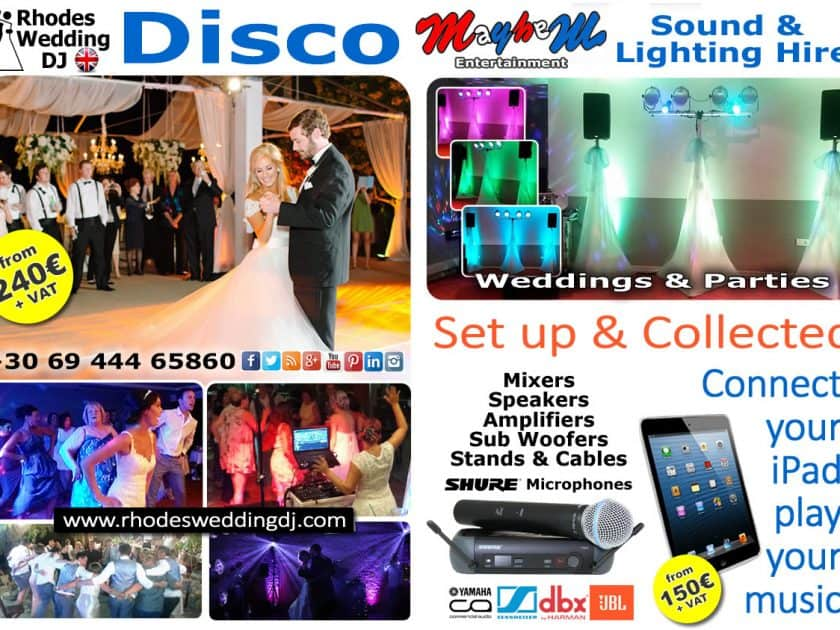 Wedding disco djs & hire