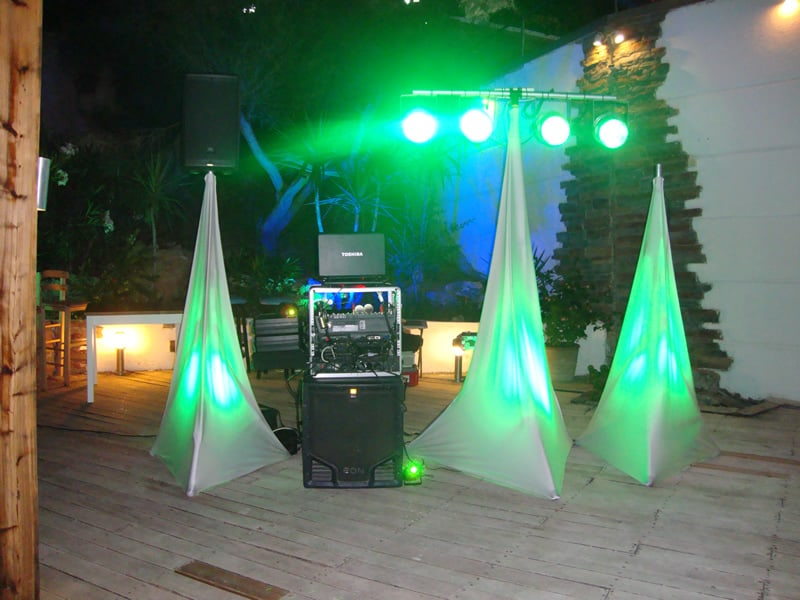 Dj stand at the Lindian Jewel
