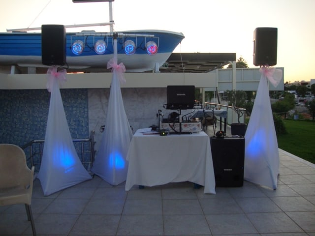 Dj set up for Tsambikos Taverna Kalithies