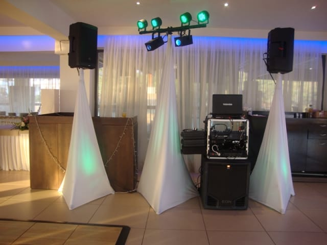 The Dj set up at the Elia Restaurant Pefkos