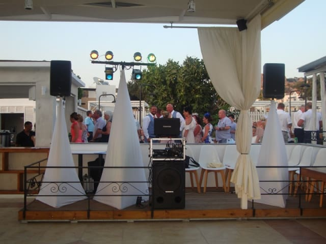 Dj stand at The Kyma Pefkos
