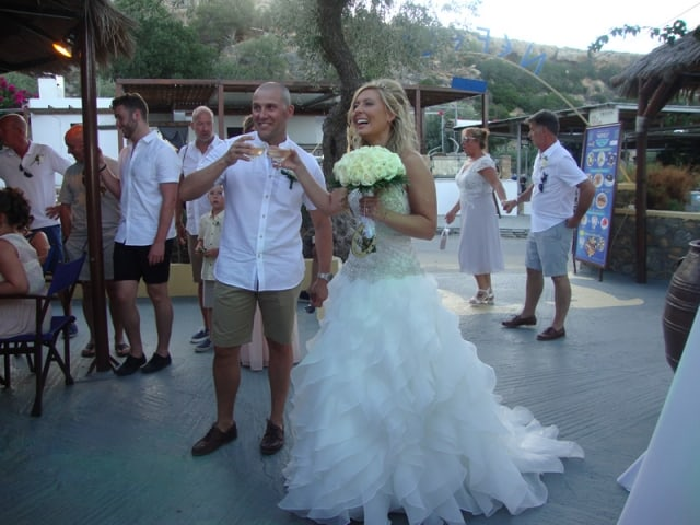 Mr & Mrs Morris - Nefeli Restaurant, Lindos