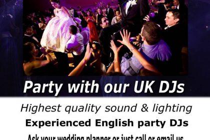 Rhodes Wedding Dj discos & entertainment for weddings