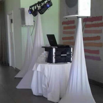 Rhodes Wedding DJ high-quality sound and lighting equipment.