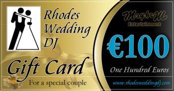 100 euro present towards you wedding reception entertainment