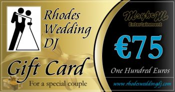 75 euro towards your wedding reception entertainment package