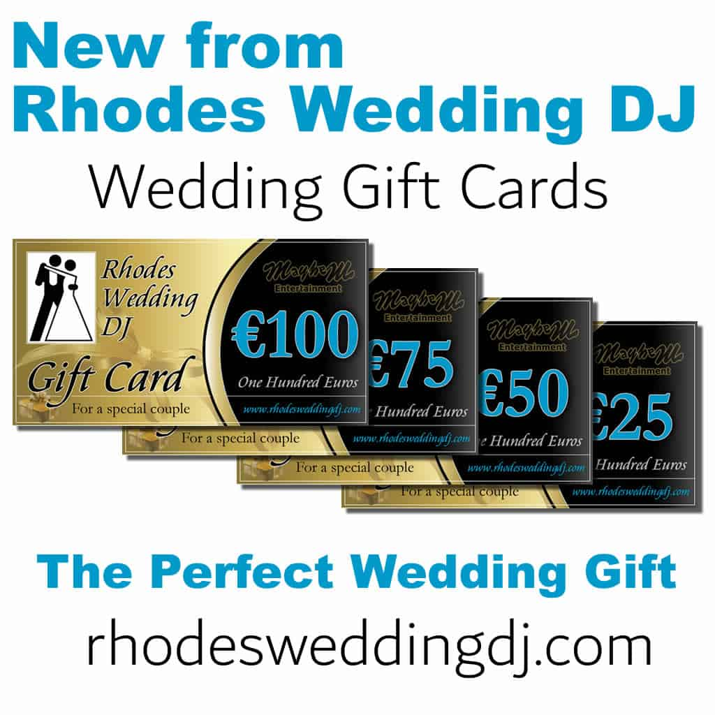 Git vouchers for your Bride and Groom